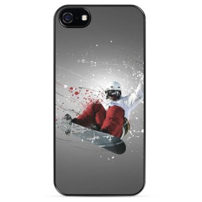 Чехол для iPhone Сноубордист