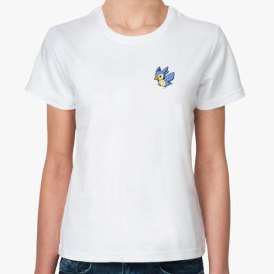 Классическая футболка Птичка на сердце