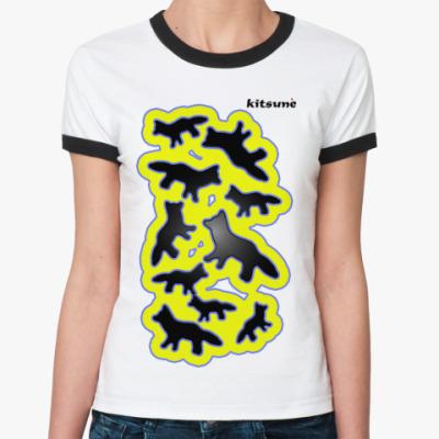 Женская футболка Ringer-T   KITSUNE