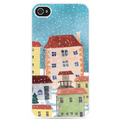 Чехол для iPhone Зимний город