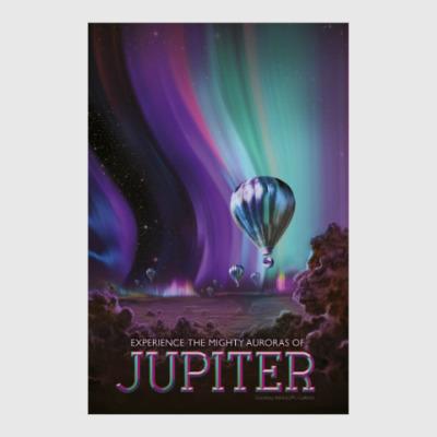 Постер Experience the mighty auroras of Jupiter