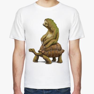 Футболка Ленивец на черепахе