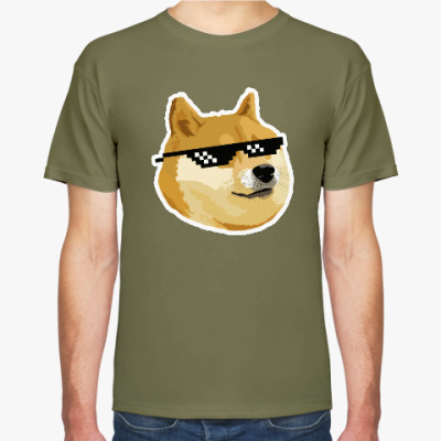 Футболка Doge meme, deal with it очки