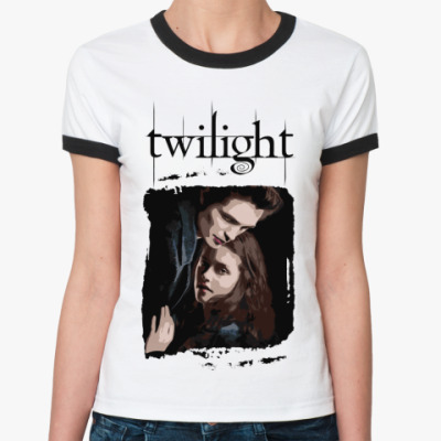 Женская футболка Ringer-T Bella and Edward