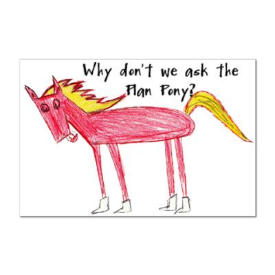 Наклейка (стикер)   Plan Pony