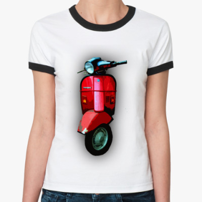 Женская футболка Ringer-T vespa