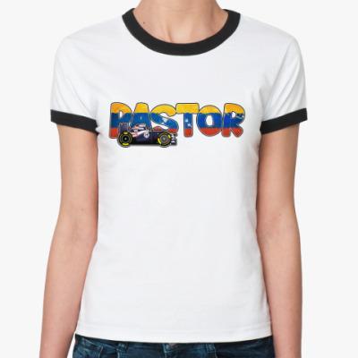 Женская футболка Ringer-T PASTOR