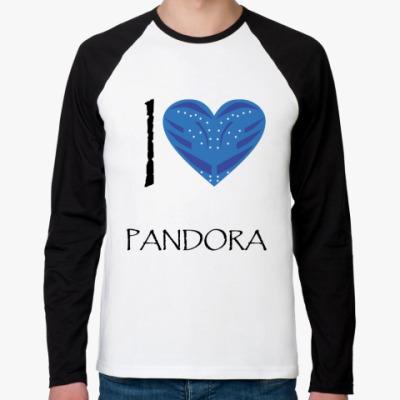 Футболка реглан с длинным рукавом I love Pandora