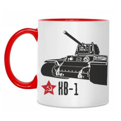 Кружка Советский тяжёлый танк КВ-1