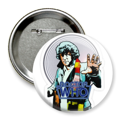 Значок 75мм Doctor Who