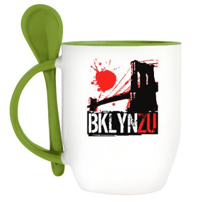 Кружка с ложкой Brooklyn Zu