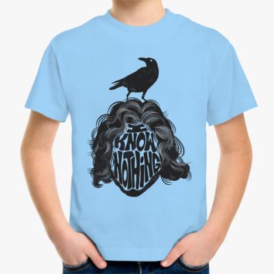 Детская футболка Сноу - Я ничего не знаю