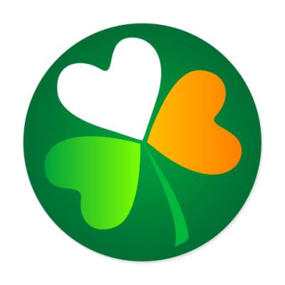 Виниловые наклейки Клевер - ирландский флаг
