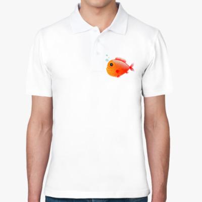 Рубашка поло Довольная рыба
