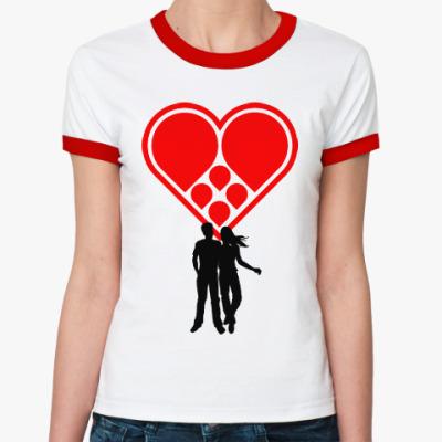 Женская футболка Ringer-T Любовная пара
