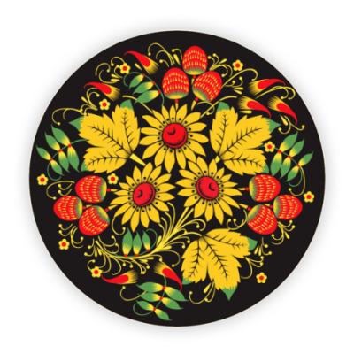 Костер (подставка под кружку) Русская роспись хохлома