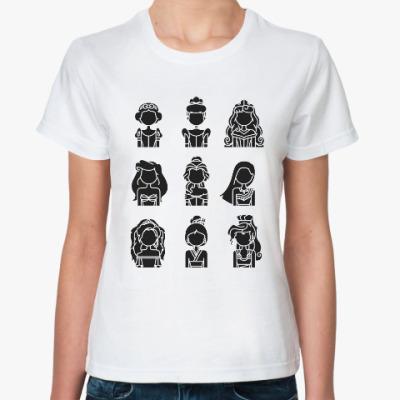 Классическая футболка Диснеевские Принцессы