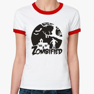 Женская футболка Ringer-T Зомбификация
