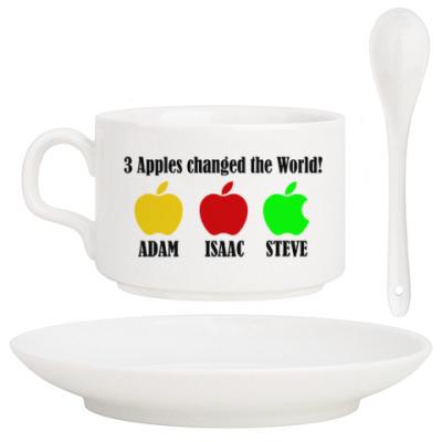 Кофейный набор 3 яблока изменили мир