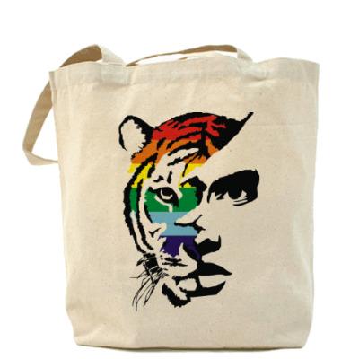 Сумка Тигр радуга