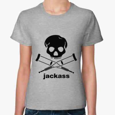 Женская футболка  Jackass