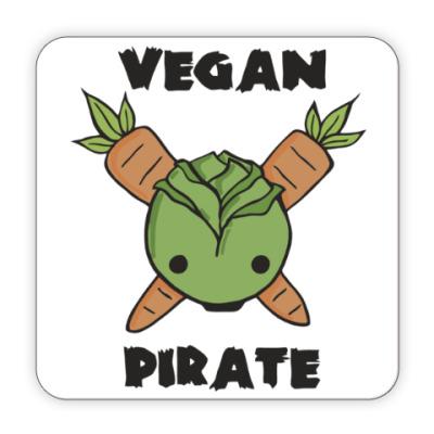 Костер (подставка под кружку) Веган пират
