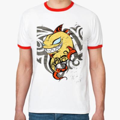 Футболка Ringer-T Золотой Рыб