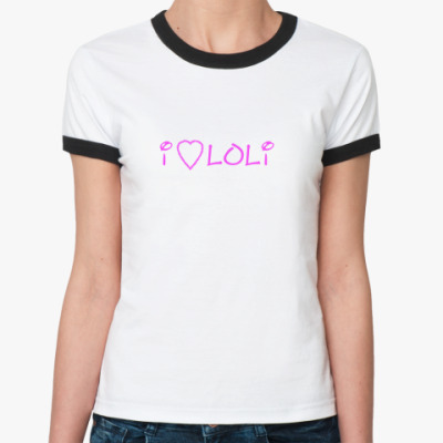 Женская футболка Ringer-T   Лоли