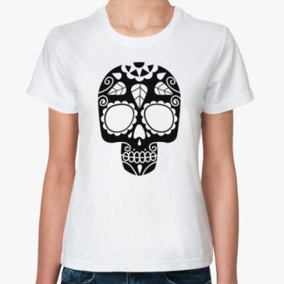 Классическая футболка Мексиканский череп