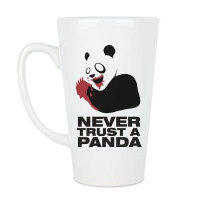 Чашка Латте Никогда не верь панде