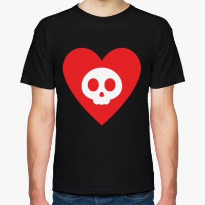 Футболка Сердце и череп