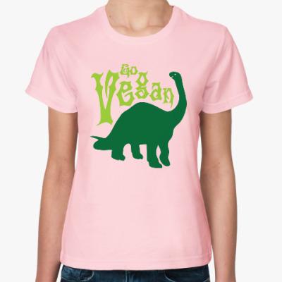 Женская футболка Go Vegan