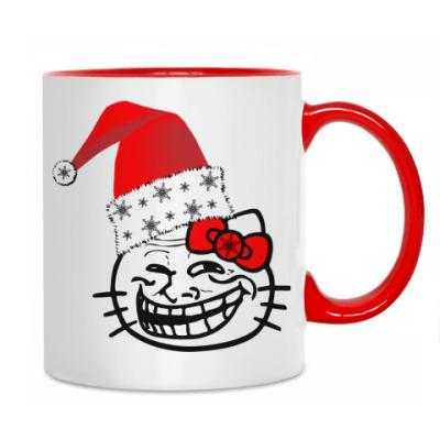 Кружка Trollface: happy new year