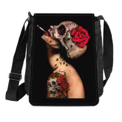 Сумка-планшет Sugar skull girl