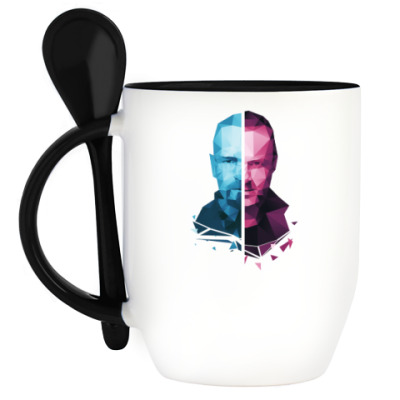 Кружка с ложкой Walter White and Jesse Pinkman