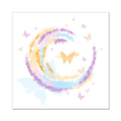 Наклейка (стикер)  'Бабочки'