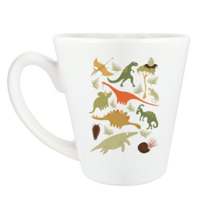 Чашка Латте Динозаврики