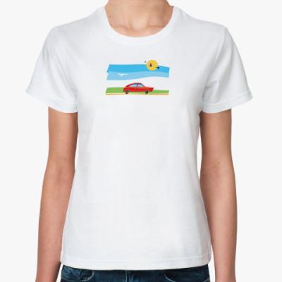 Классическая футболка машина