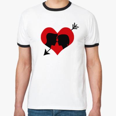 Футболка Ringer-T Сердце хочет любви