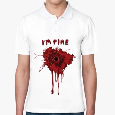 Рубашка поло I'm fine