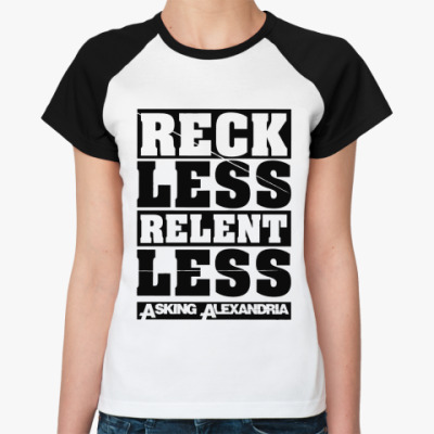 Женская футболка реглан Asking Alexandria