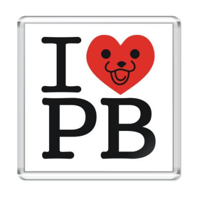 Магнит  I love PB