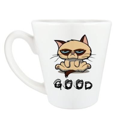 Чашка Латте Недовольный кот ( Grumpy cat )