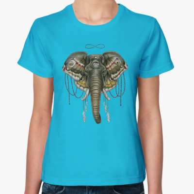 Женская футболка Индийский слон