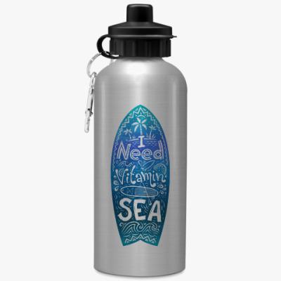 Спортивная бутылка/фляжка I need vitamin SEA