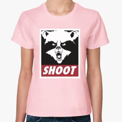 Женская футболка Raccoon Shoot