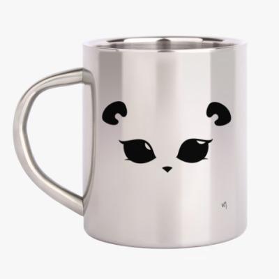 Кружка металлическая Панда