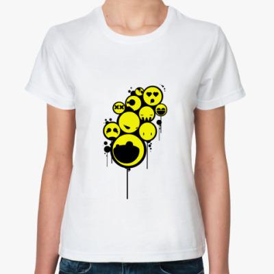 Классическая футболка  футболка Smiley