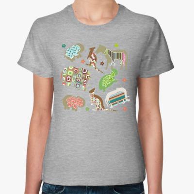 Женская футболка Веселые животные подарят радость любому!