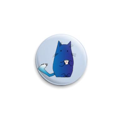 Значок 25мм  Синий кот